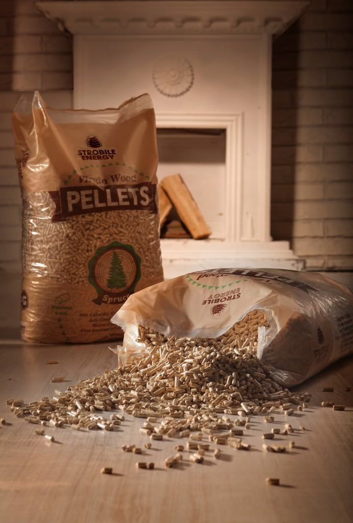 pellet di legno abete naturale Virgin Wood Pellets Foto 1