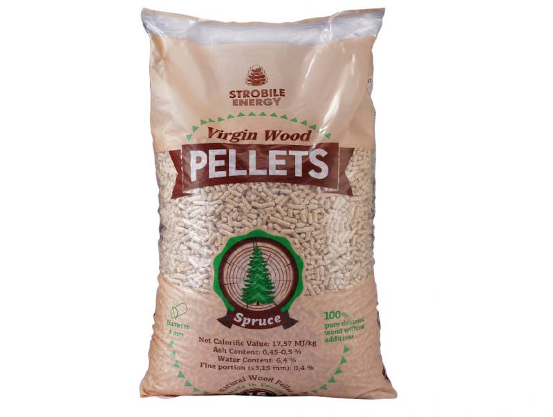 Virgin Wood Pellets, Abete bianco, 6 mm, A1 EN 14961-2, 15 kg
