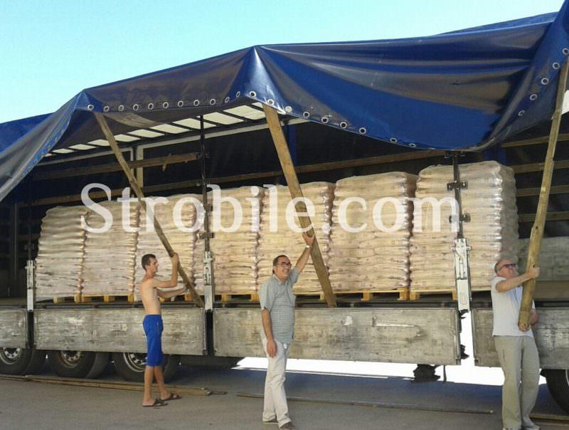 Una delle consegne di Virgin Wood Pellet Silver Fir in Italia
