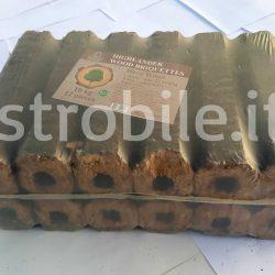 Bricchetti di legno Pini Kay Highlander, faggio, colore bianco, 6 mm, EN 15234-3, sacchi da 10 kili